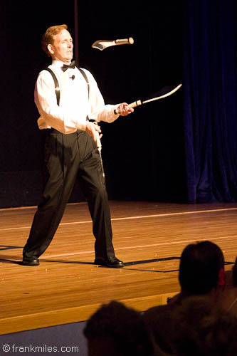 Frank Miles, juggler, entertainer, America's Got Talent